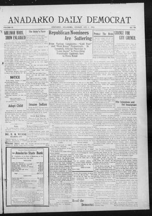 Primary view of object titled 'Anadarko Daily Democrat (Anadarko, Okla.), Vol. 9, No. 204, Ed. 1, Tuesday, October 4, 1910'.