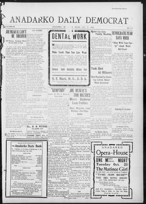 Primary view of object titled 'Anadarko Daily Democrat (Anadarko, Okla.), Vol. 9, No. 219, Ed. 1, Friday, October 21, 1910'.