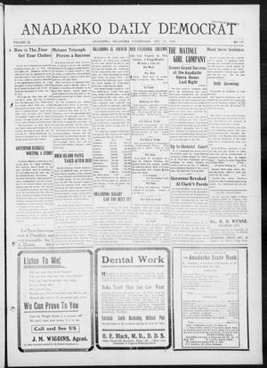 Primary view of object titled 'Anadarko Daily Democrat (Anadarko, Okla.), Vol. 9, No. 224, Ed. 1, Wednesday, October 26, 1910'.