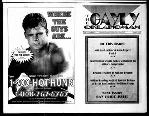 Primary view of The Gayly Oklahoman (Oklahoma City, Okla.), Vol. 11, No. 11, Ed. 1 Tuesday, June 1, 1993