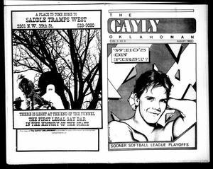 Primary view of The Gayly Oklahoman (Oklahoma City, Okla.), Vol. 3, No. 8, Ed. 1 Thursday, August 1, 1985