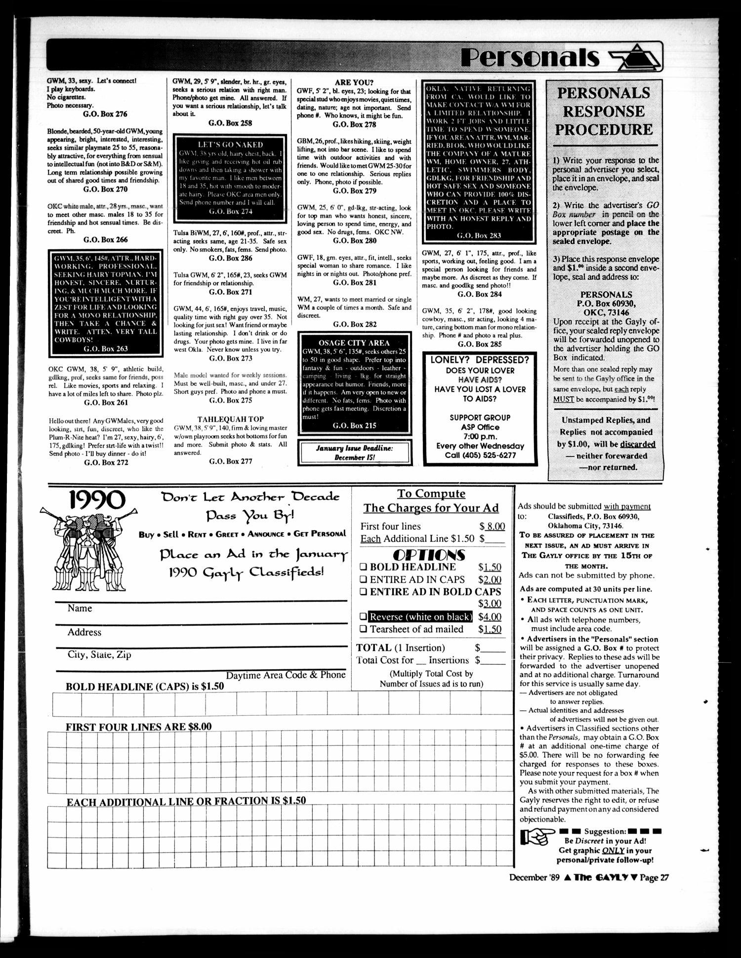 The Gayly Oklahoman (Oklahoma City, Okla ), Vol  7, No  12, Ed  1