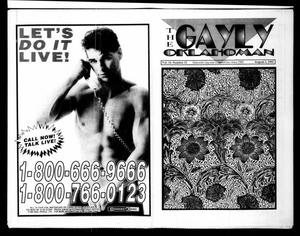 Primary view of object titled 'The Gayly Oklahoman (Oklahoma City, Okla.), Vol. 10, No. 15, Ed. 1 Saturday, August 1, 1992'.