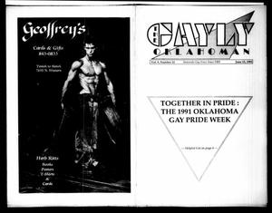 Primary view of The Gayly Oklahoman (Oklahoma City, Okla.), Vol. 9, No. 12, Ed. 1 Saturday, June 15, 1991