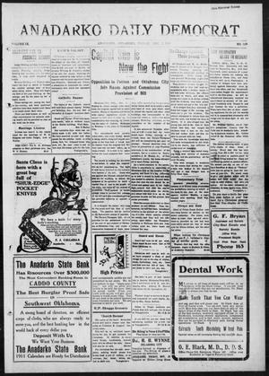 Primary view of object titled 'Anadarko Daily Democrat (Anadarko, Okla.), Vol. 9, No. 254, Ed. 1, Friday, December 2, 1910'.