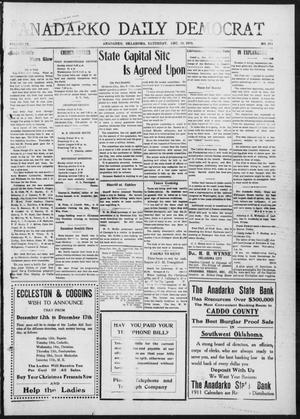 Primary view of object titled 'Anadarko Daily Democrat (Anadarko, Okla.), Vol. 9, No. 261, Ed. 1, Saturday, December 10, 1910'.