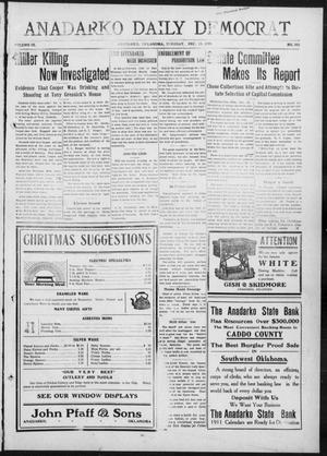 Primary view of object titled 'Anadarko Daily Democrat (Anadarko, Okla.), Vol. 9, No. 263, Ed. 1, Tuesday, December 13, 1910'.
