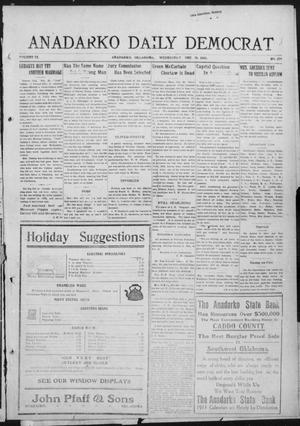 Primary view of object titled 'Anadarko Daily Democrat (Anadarko, Okla.), Vol. 9, No. 275, Ed. 1, Wednesday, December 28, 1910'.