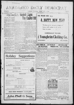 Primary view of object titled 'Anadarko Daily Democrat (Anadarko, Okla.), Vol. 9, No. 277, Ed. 1, Friday, December 30, 1910'.