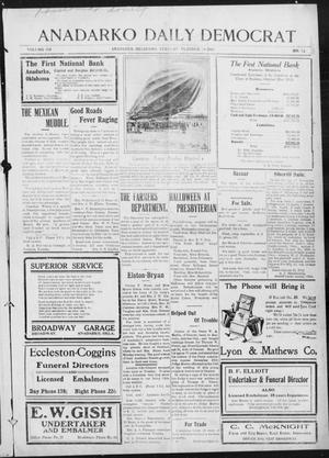 Primary view of object titled 'Anadarko Daily Democrat (Anadarko, Okla.), Vol. 12, No. 13, Ed. 1, Tuesday, October 28, 1913'.