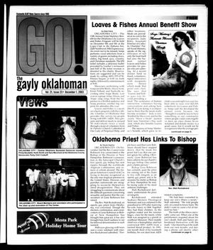 Primary view of object titled 'The Gayly Oklahoman (Oklahoma City, Okla.), Vol. 21, No. 23, Ed. 1 Monday, December 1, 2003'.