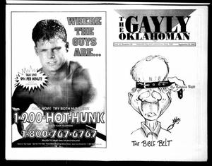 Primary view of object titled 'The Gayly Oklahoman (Oklahoma City, Okla.), Vol. 11, No. 18, Ed. 1 Wednesday, September 15, 1993'.