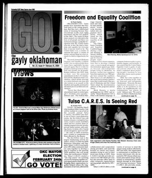 Primary view of object titled 'The Gayly Oklahoman (Oklahoma City, Okla.), Vol. 22, No. 4, Ed. 1 Sunday, February 15, 2004'.