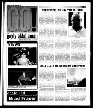 Primary view of object titled 'The Gayly Oklahoman (Oklahoma City, Okla.), Vol. 22, No. 8, Ed. 1 Thursday, April 15, 2004'.