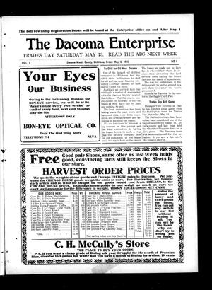 Primary view of object titled 'The Dacoma Enterprise (Dacoma, Okla.), Vol. 5, No. 1, Ed. 1 Friday, May 5, 1916'.