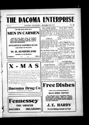 Primary view of object titled 'The Dacoma Enterprise (Dacoma, Okla.), Vol. 4, No. 36, Ed. 1 Friday, December 24, 1915'.