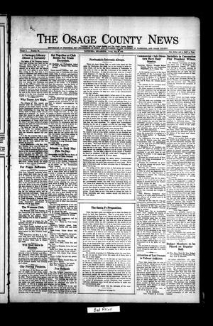 Primary view of object titled 'The Osage County News (Pawhuska, Okla.), Vol. 7, No. 36, Ed. 1 Friday, May 14, 1920'.
