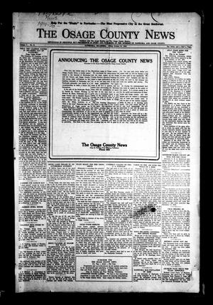 Primary view of object titled 'The Osage County News (Pawhuska, Okla.), Vol. 7, No. 8, Ed. 1 Friday, October 31, 1919'.