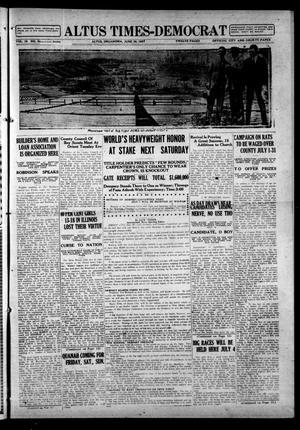 Primary view of Altus Times-Democrat (Altus, Okla.), Vol. 19, No. 26, Ed. 1 Thursday, June 30, 1921