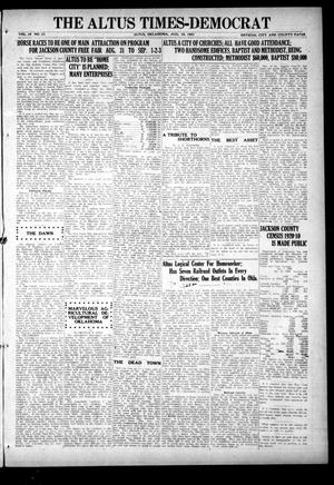 Primary view of object titled 'The Altus Times-Democrat (Altus, Okla.), Vol. 19, No. 33, Ed. 3 Thursday, August 18, 1921'.