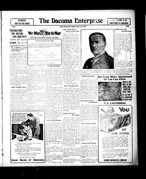 Primary view of object titled 'The Dacoma Enterprise (Dacoma, Okla.), Vol. 6, No. 12, Ed. 1 Friday, July 20, 1917'.