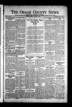 Primary view of object titled 'The Osage County News (Pawhuska, Okla.), Vol. 7, No. 52, Ed. 1 Friday, August 27, 1920'.