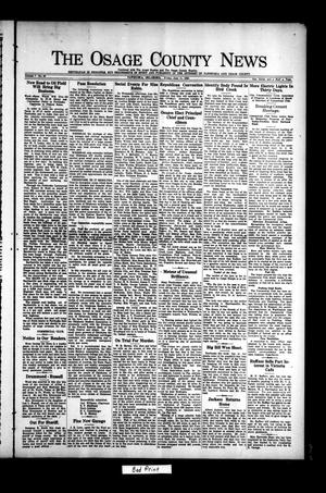 Primary view of object titled 'The Osage County News (Pawhuska, Okla.), Vol. 7, No. 40, Ed. 1 Friday, June 11, 1920'.