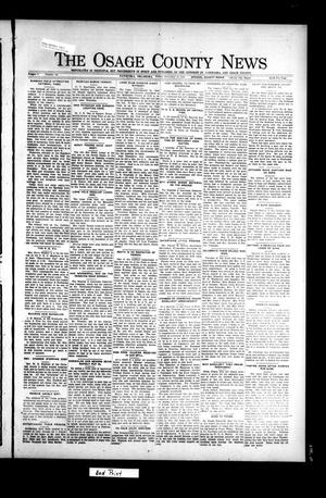 Primary view of object titled 'The Osage County News (Pawhuska, Okla.), Vol. 9, No. 12, Ed. 1 Saturday, November 12, 1921'.
