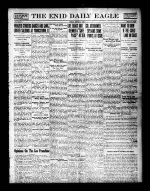 Primary view of object titled 'The Enid Daily Eagle (Enid, Okla.), Vol. 15, No. 7, Ed. 1 Sunday, January 9, 1916'.