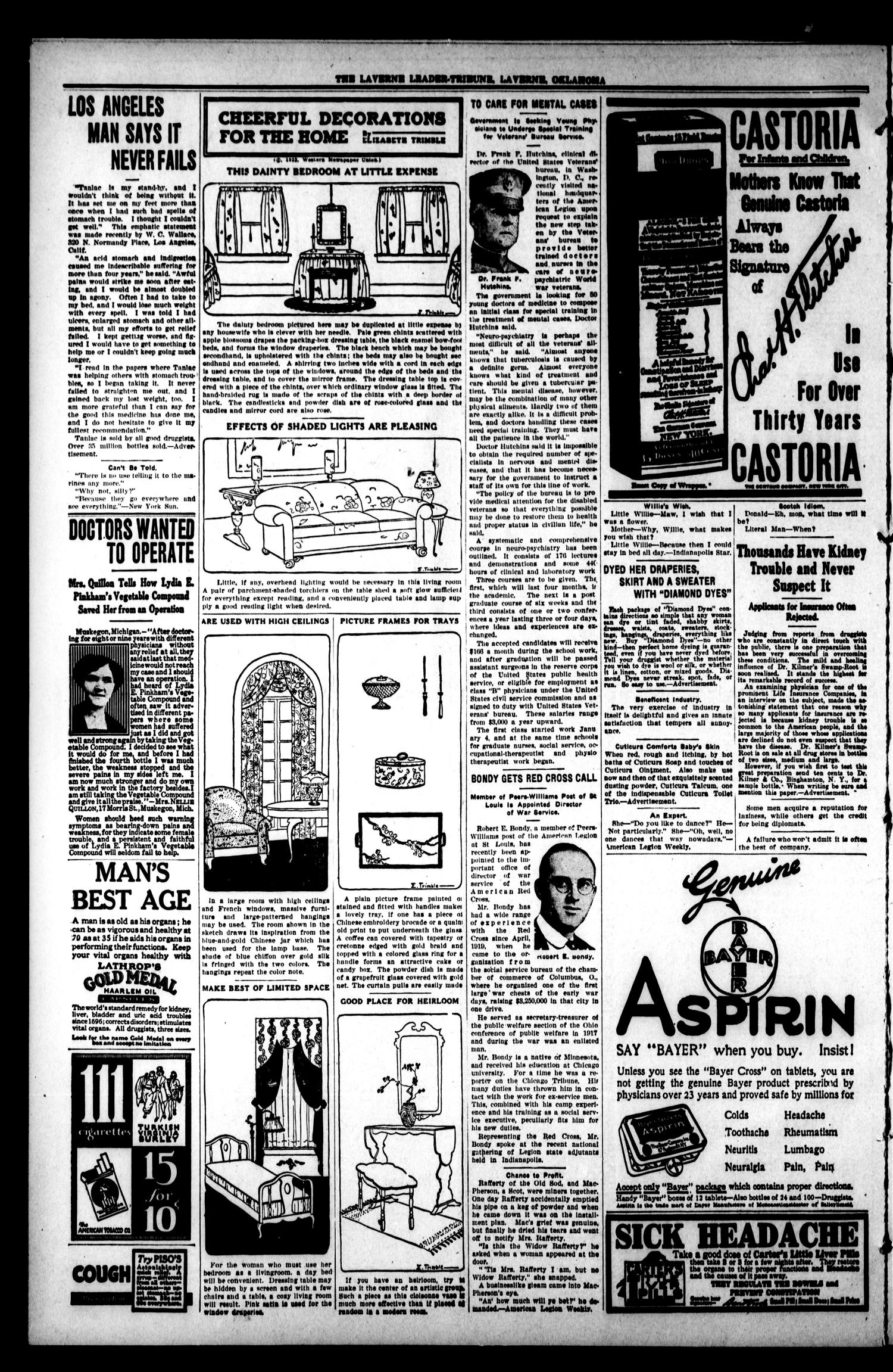 The Leader Tribune (Laverne, Okla.), Vol. 11, No. 34, Ed. 1 Friday, January 19, 1923                                                                                                      [Sequence #]: 4 of 8