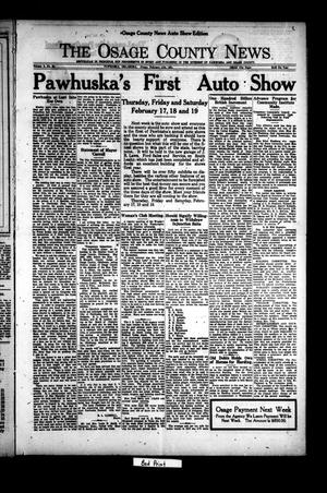 Primary view of object titled 'The Osage County News (Pawhuska, Okla.), Vol. 8, No. 24, Ed. 2 Friday, February 11, 1921'.