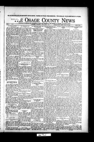 Primary view of object titled 'The Osage County News (Pawhuska, Okla.), Vol. 9, No. 6, Ed. 1 Friday, October 7, 1921'.