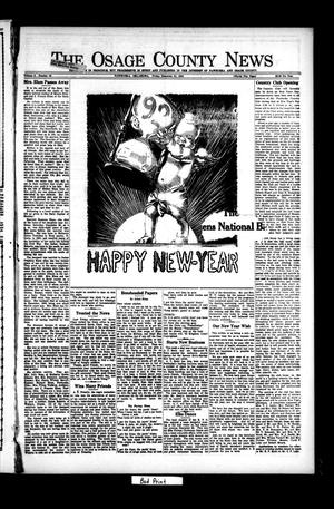 Primary view of object titled 'The Osage County News (Pawhuska, Okla.), Vol. 8, No. 18, Ed. 1 Tuesday, December 28, 1920'.