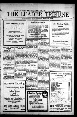 Primary view of The Leader Tribune (Laverne, Okla.), Vol. 11, No. 37, Ed. 1 Friday, February 9, 1923