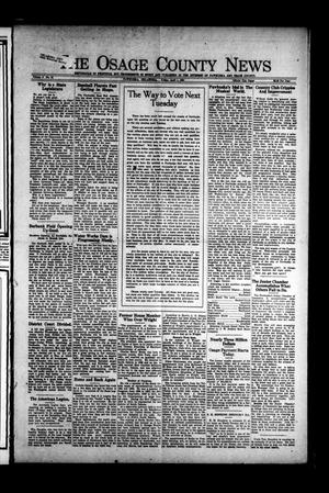 Primary view of object titled 'The Osage County News (Pawhuska, Okla.), Vol. 8, No. 31, Ed. 1 Friday, April 1, 1921'.