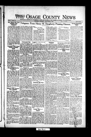 Primary view of object titled 'The Osage County News (Pawhuska, Okla.), Vol. 8, No. 16, Ed. 1 Friday, December 17, 1920'.
