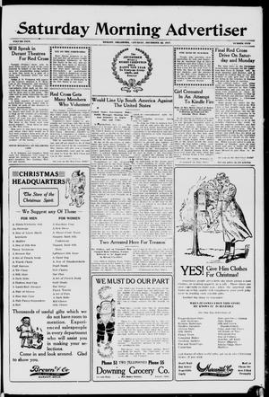 Primary view of object titled 'Saturday Morning Advertiser (Durant, Okla.), Vol. 5, No. 5, Ed. 1, Saturday, December 22, 1917'.