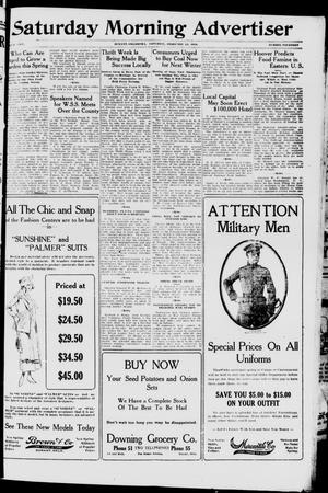 Primary view of object titled 'Saturday Morning Advertiser (Durant, Okla.), Vol. 5, No. 14, Ed. 1, Saturday, February 23, 1918'.