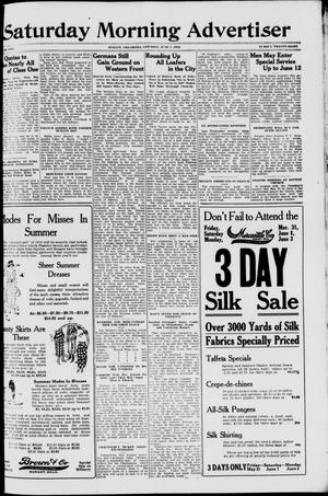 Primary view of object titled 'Saturday Morning Advertiser (Durant, Okla.), Vol. 5, No. 28, Ed. 1, Saturday, June 1, 1918'.