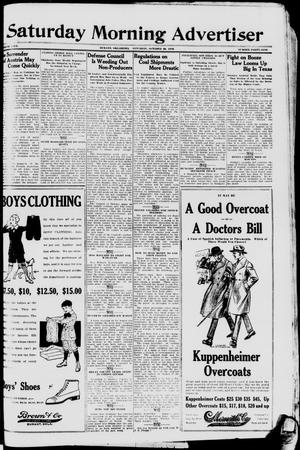 Primary view of object titled 'Saturday Morning Advertiser (Durant, Okla.), Vol. 5, No. 49, Ed. 1, Saturday, October 26, 1918'.