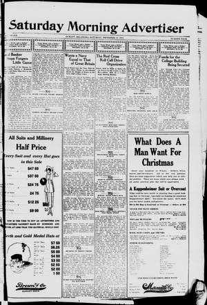 Primary view of object titled 'Saturday Morning Advertiser (Durant, Okla.), Vol. 6, No. 4, Ed. 1, Saturday, December 14, 1918'.