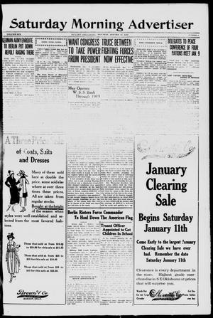 Primary view of object titled 'Saturday Morning Advertiser (Durant, Okla.), Vol. 6, No. 8, Ed. 1, Saturday, January 11, 1919'.