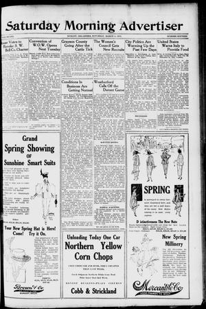 Primary view of object titled 'Saturday Morning Advertiser (Durant, Okla.), Vol. 6, No. 16, Ed. 1, Saturday, March 8, 1919'.