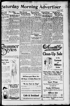 Primary view of object titled 'Saturday Morning Advertiser (Durant, Okla.), Vol. 6, No. 29, Ed. 1, Saturday, June 7, 1919'.