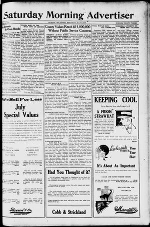 Primary view of object titled 'Saturday Morning Advertiser (Durant, Okla.), Vol. 6, No. 33, Ed. 1, Saturday, July 5, 1919'.