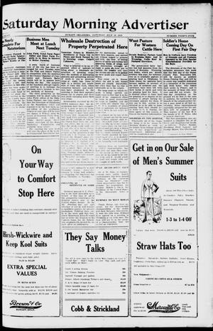 Primary view of object titled 'Saturday Morning Advertiser (Durant, Okla.), Vol. 6, No. 35, Ed. 1, Saturday, July 19, 1919'.