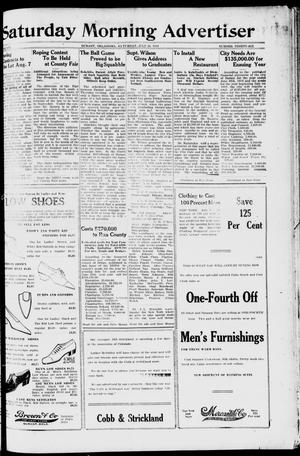 Primary view of object titled 'Saturday Morning Advertiser (Durant, Okla.), Vol. 6, No. 36, Ed. 1, Saturday, July 26, 1919'.