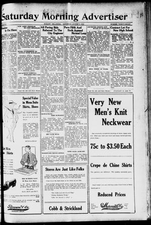 Primary view of object titled 'Saturday Morning Advertiser (Durant, Okla.), Vol. 6, No. 38, Ed. 1, Saturday, August 9, 1919'.