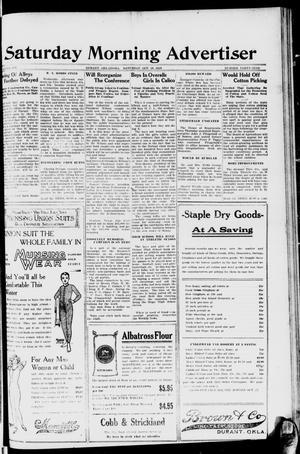 Primary view of Saturday Morning Advertiser (Durant, Okla.), Vol. 6, No. 49, Ed. 1, Saturday, October 25, 1919