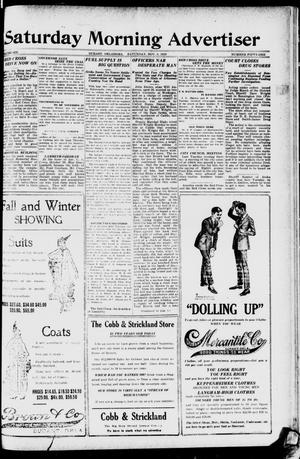 Primary view of object titled 'Saturday Morning Advertiser (Durant, Okla.), Vol. 6, No. 51, Ed. 1, Saturday, November 8, 1919'.